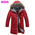 2017 Boys Sale Winter Coat Winter Coat Free Shipping Hot -selling In Down Child Male Children's Medium-long Jacket Outerwear