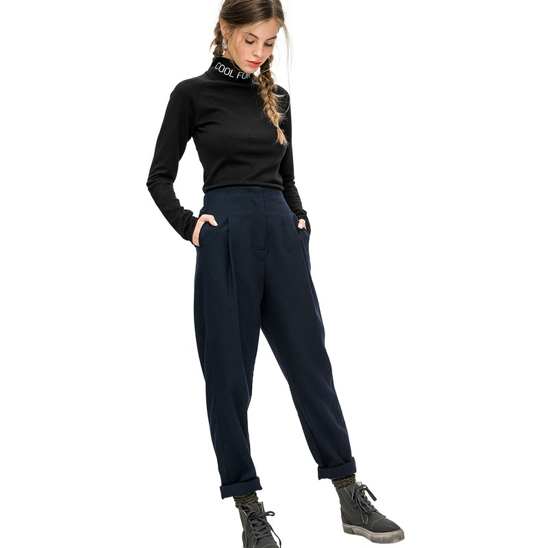 Pants & Capris befree 1731594799 woman polyester trousers women clothes apparel for female TmallFS fashion harem denim pants women ripped holes female jeans 2017 s 5xl oversized vaqueros with pockets jean trousers new pantalon