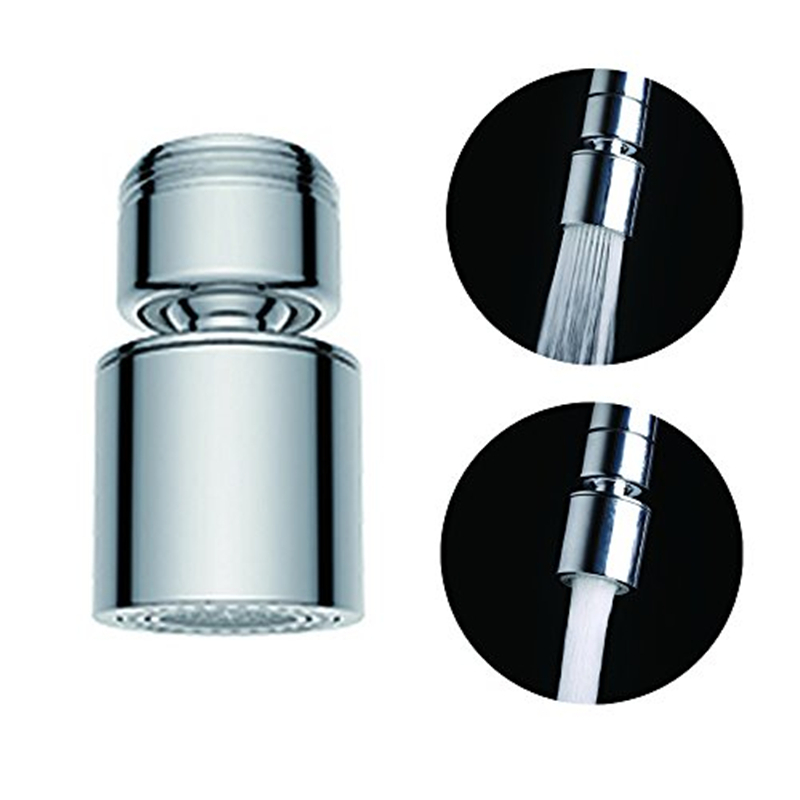 New 2-Flow Aerator 360 Degree Water Saving Bidet/Kitchen Faucet Tap Adapter Device Kitchen or Bathroom Fitting