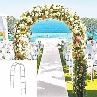 Black Metal Arch Upright Base Pole Stand Display Set Bridal Prom Wedding Party Garden Floral Decoration Party Supplies