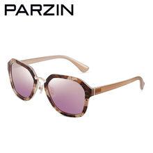 Parzin gafas de sol polarizadas mujer Tr 90 gafas de sol mujer Vintage  señoras gafas de conducción con el caso negro 9869 16d0ff40076b