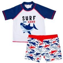 New Summer Baby Boy Sharks Fish Swimwear Anti-UV Swimming Suit Infant Toddler Kids Children Beach Surfing Bathing Clothes