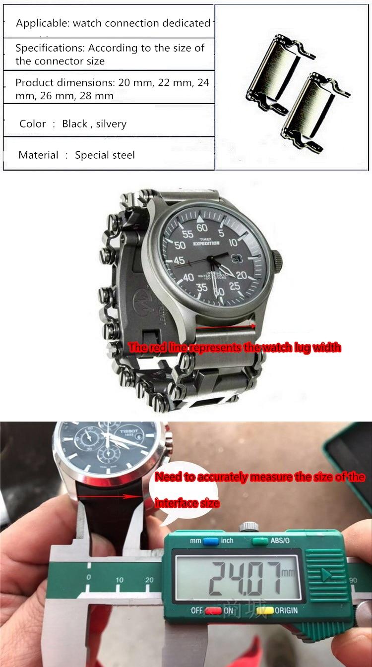 Leatherman relógio link fivela de aço inoxidável