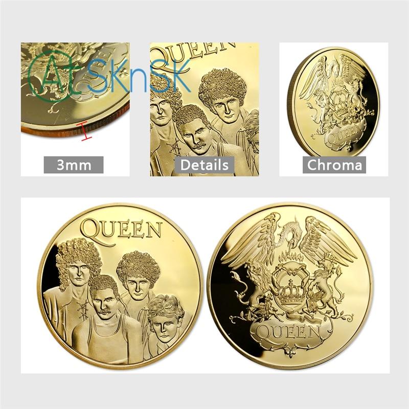 10pcs / lot, Brezplačna dostava Famous Band - Queen Gold Plated - Dekor za dom - Fotografija 6