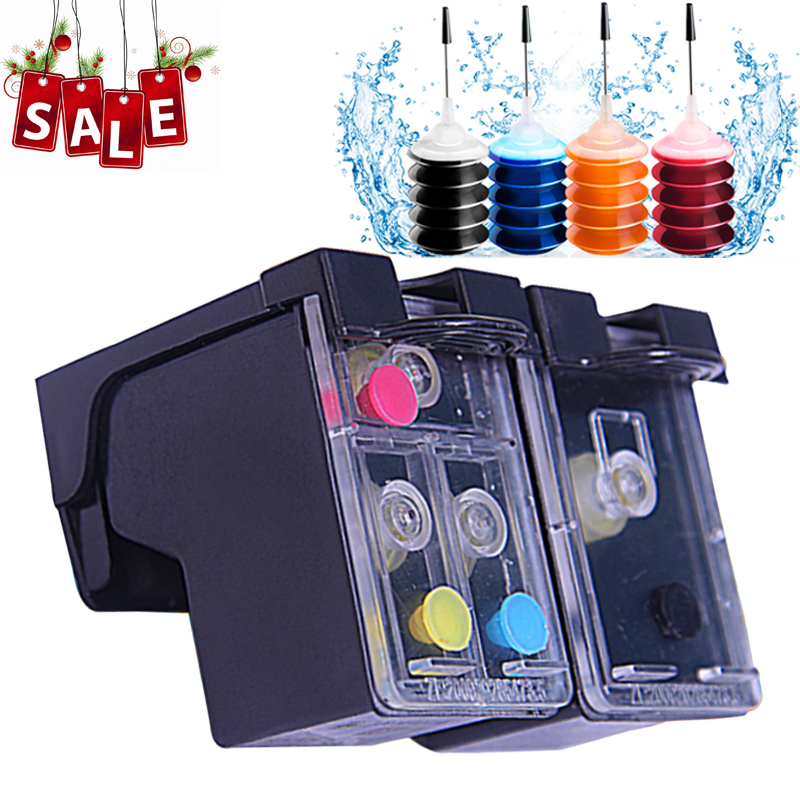 Refillable Ink Cartridge replacement For HP302 XL Deskjet 2130 2135 1110 3630 3632 Officejet 3830 3834 4650 4655 Printer