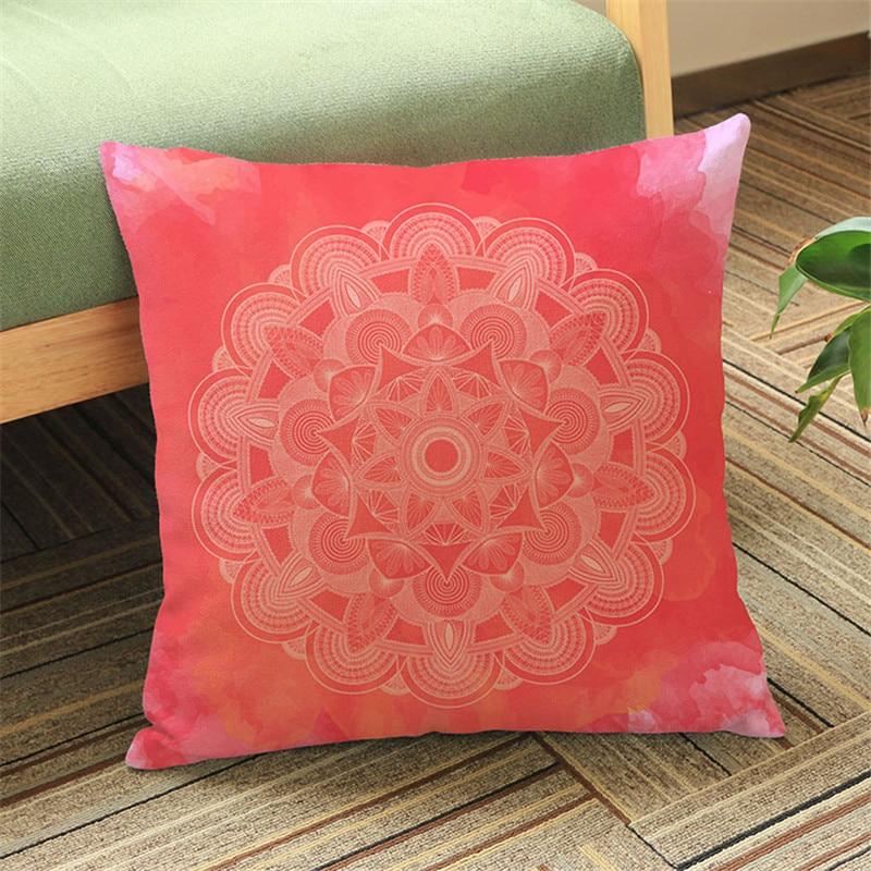 High Quality Pillow Case, Islam Muslim Religion Datura Flower Cotton Linen Throw Pillow Cushion Cover Pillow Cover decor home