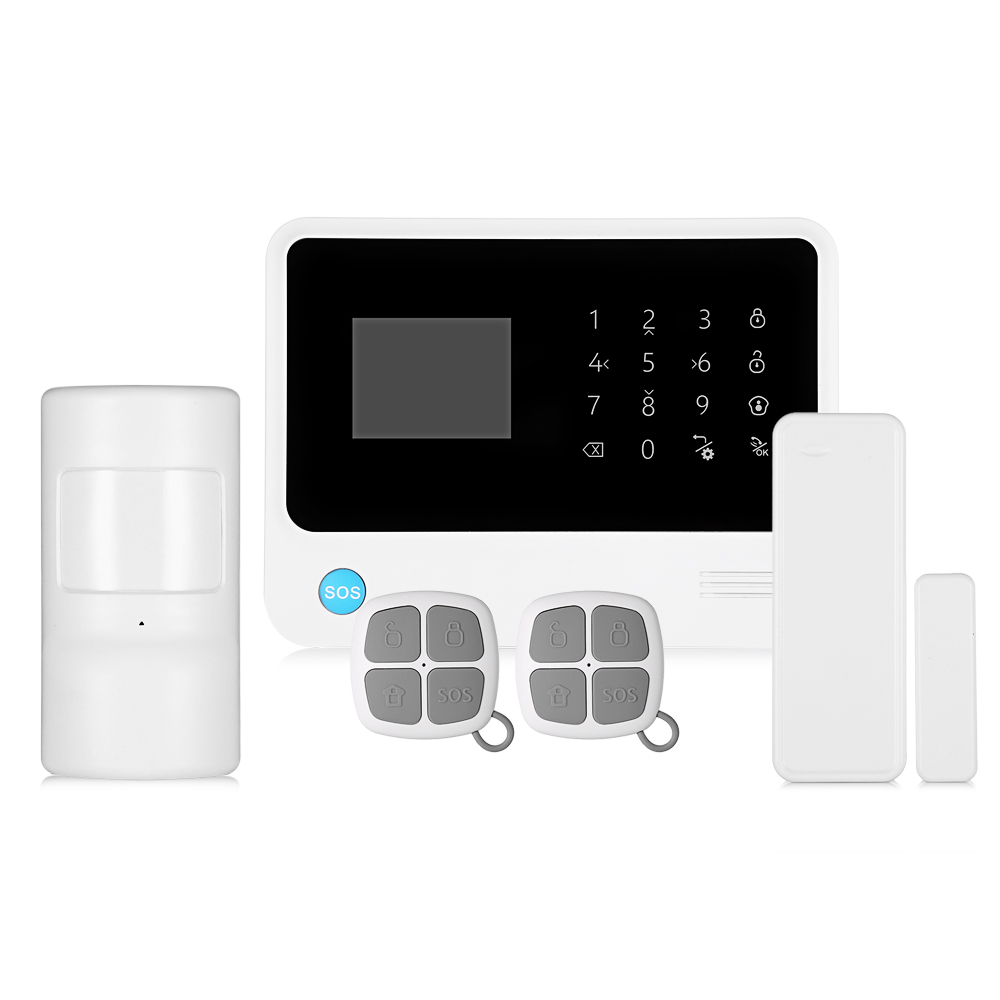 Fimei upgraded G90B Plus GSM WiFi GPRS SMS 2.5 inch LED Touch Keypad Wireless Burglar Alarm System Home Security For Android IOS fuers 2018 update g90b plus 2g 2 4g wifi gsm sms wireless home security alarm system ios android app remote control