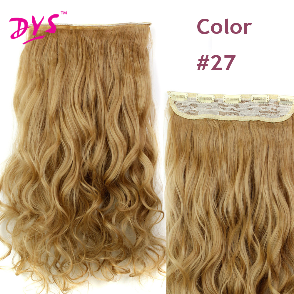 Deyngs 60CM One Piece 5 Clips in Hair Extensions For Women 34 Full Head Long Wavy16 Colors High Temperature Synthetic Fiber (5)