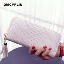 2017 Fashion Women Wallets Luxury Design Coin Purse Brand Tassel Purse Female wallet Dollar price Carteira