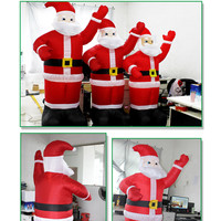 Air Blown LED Light Christmas Decor Holiday Lighting Inflatable Santa Claus Sleigh Reindeer Props New Year SuperMarket Decor