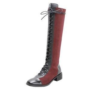 Image 2 - FEDONAS Kaliteli Karışık Renkler Hakiki Deri Kadın yarım çizmeler Klasik Yuvarlak Ayak Chelsea Çizmeler Yüksek Ayakkabı Kadın kısa çizmeler