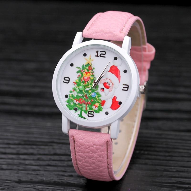 2016 Fashion Christmas Women Watches Santa Claus Chri