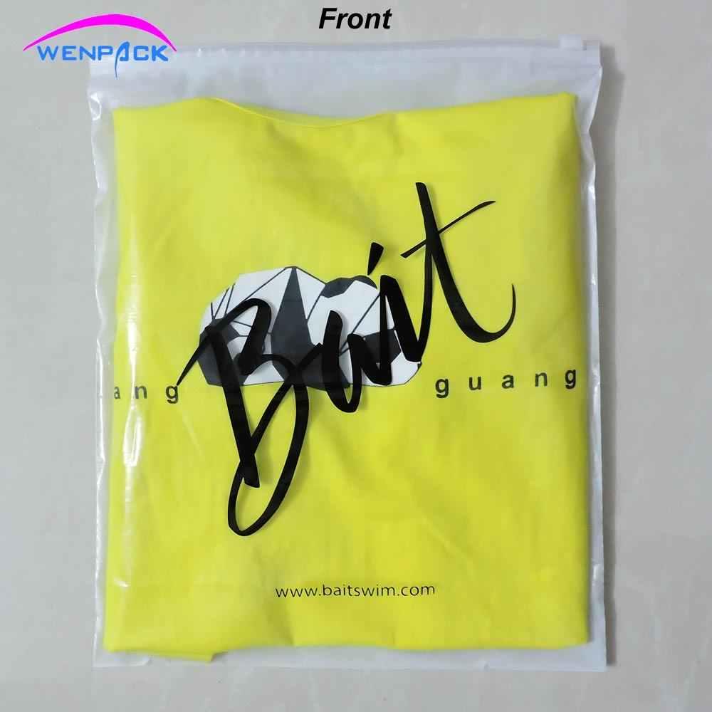 Tùy chỉnh in biểu tượng quà tặng quà tặng dây kéo và zip khóa plastic bag/một bên là frosted