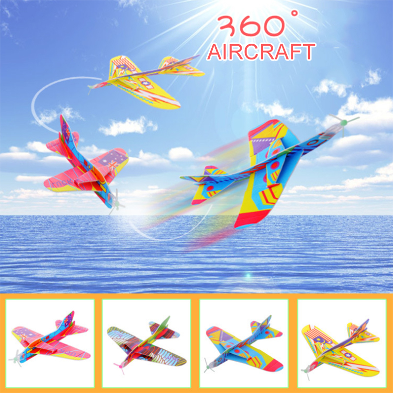 Tricks Rotate Hand Throw Flying Glider Model Airplane Party Show Form Creative Resistant Breakout For Kid Outdoor Game Fun Toys