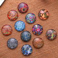 20mm Mixed Style  Round Glass Cabochon Dome Jewelry Finding Cameo Pendant Settings 20pcs/lot K04785
