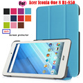"Folio Flip Cover For Acer Iconia One 8 B1-850 8"" Tablet Cases Custer PU Leather Cases Cover with screen protector"
