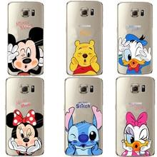 Minnie Mickey Cartoon Donald Duck Stitch Silicon Soft Case For Samsung Galaxy S5 S6 S7 Edge S8 Plus A3 A5 A7 2017 J3 J5 J7 2016