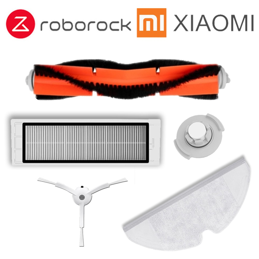 Replacement for Xiaomi Robot Vacuum Cleaner roborock S50 S51 Spare Parts Kits Side Brushes HEPA Filter Roller brush 1pcs roller brush for xiaomi mi robot vacuum replacement kits for xiaomi roborock vacuum cleaner
