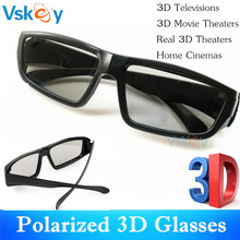 VSKEY 3pcs Polarized 3D Glasses For Passive 3D Televisions RealD Movie Cinema Theaters System Home TV Glasses For Adult