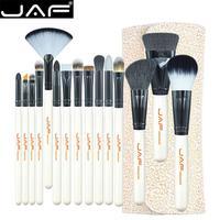 JAF Beauty 15 Pcs Makeup Brushes Set Professional Foundation Powder Blusher Face Brush Cosmetic Brush Set