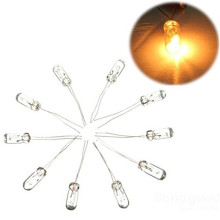 10 шт./лот 5 мм миниатюрная прозрачная лампочка 12В 1,4 Вт мини зерно размольная машина для производства пшеничной и риса лампы T5 лампы цвет:( oem янтарные