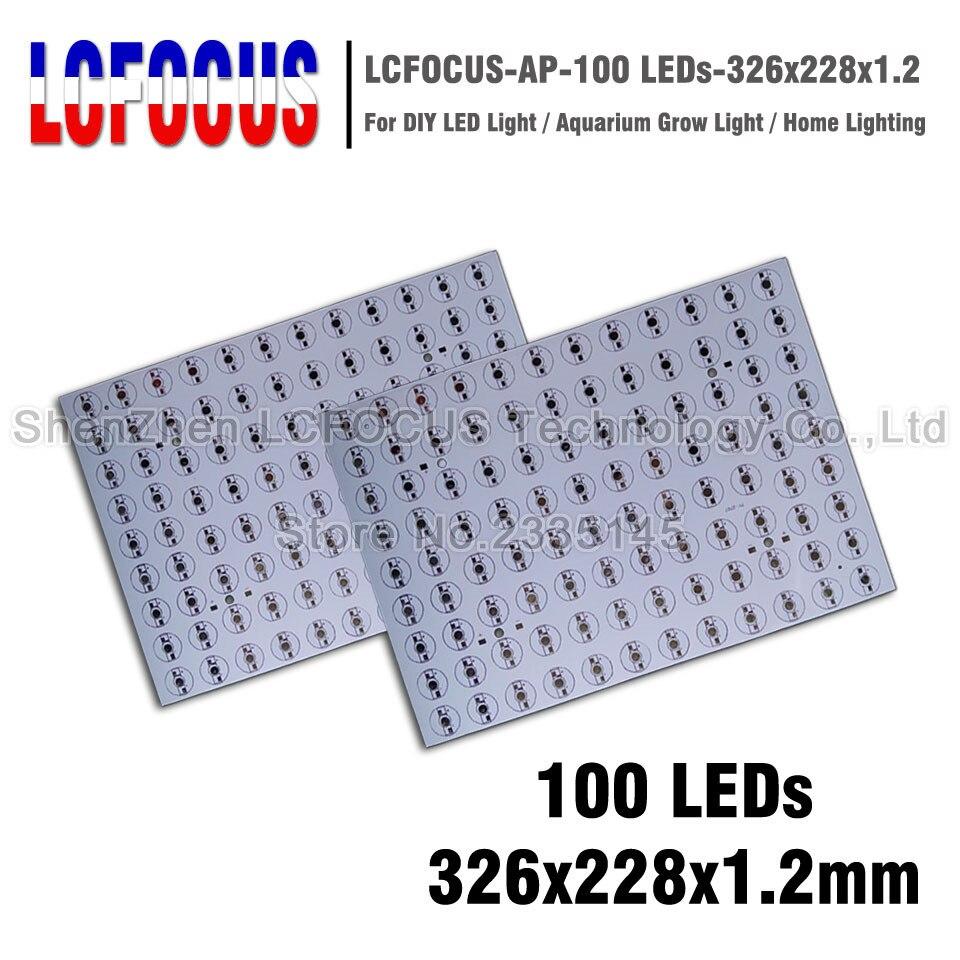 High Power 1W 3W 5W Aluminum Plate 326x228x1 2mm PCB 1 3 5 W Watt Light