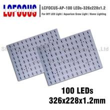 Высокая Мощность 1 Вт, 3 Вт, 5 Вт, Алюминий пластины 326x228x1,2 мм PCB 1 3 5 Вт светильник бусины SMD COB для 100W 300W Светодиодный прожектор светильник растут светильник