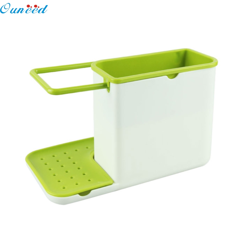 Professional Household Store Ouneed Happy home Amazing IN 1 Glove Storage Debris Rack Dishclout Storage Rack kitchen Stands Utensils dropship