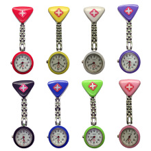 Brooch Tunic Fob Clip Nurse Doctor Pendant Pocket Quartz Red Cross Brooch Nurses Watch Fob Hanging Medical reloj de bolsillo free shipping silicone stainless round dial quartz fob woman quartz pocket watch nurse watch fob hanging medical