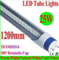 100 piece/lot Free shipping led fluorescent 25W 1200MM T8 LED Tube Light High brightness SMD3014 240led 2500LM AC85-245V