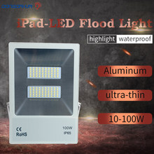 cob ip65 waterproof led light flooding 10 w 20 w white hot  cold  rgb white exterior lighting led projector floodlight ip65 raincoat 10 w 20 w 30 w 50 wled projector lamp light exterior lighting project of flood main 176 264v toughened glass panel