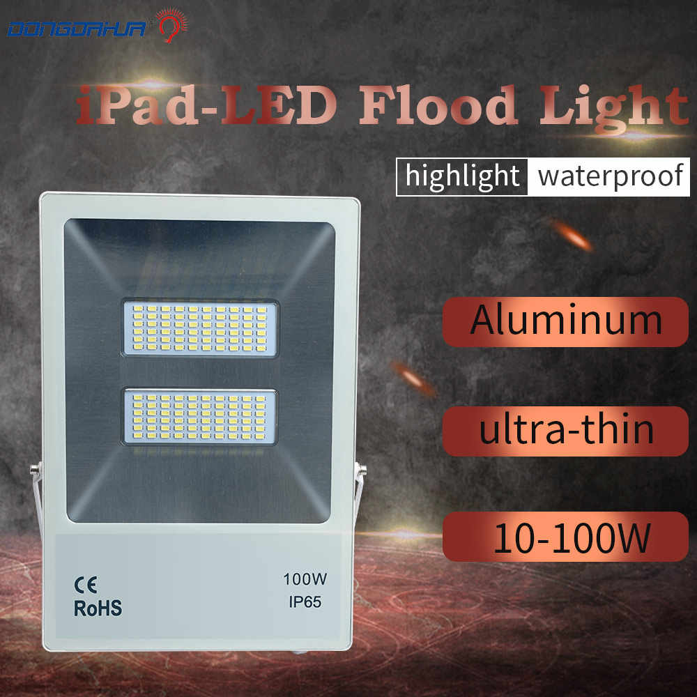 ip65 waterproof led light flooding 10W 20W 30W 50W 70W 100W white hot  cold white exterior lighting led projector floodlight