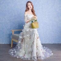 FOLOBE 6 Styles Tulle Off The Shoulder Women Girls Lace Dresses Elegant Vintage Buffterfly Long Evening