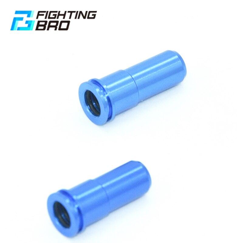 FightingBro Air Seal Nozzle Alumnium CNC Machining Dule O-ring Prevent AK M4 Ver.2 Ver.3 For Airsoft AEG