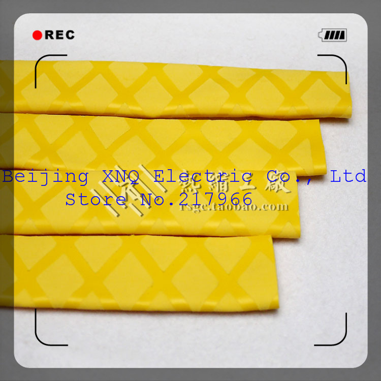 Electronic Components & Supplies Earnest Tread Yellow 20mm Shrink Tube Heat Shrinkable Sleeve Striped Fish With A Non-slip Electrically Insulating Anti-slip,free Shippin Insulation Materials & Elements