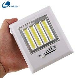 LED magnétique veilleuse Ultra lumineux Mini COB sans fil applique murale avec interrupteur aimant bande Camping lampe intérieure lampe de nuit