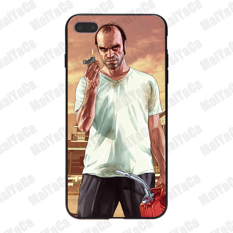 MaiYaCa Grand Theft Auto GTA V Luxury High-end Protector โทรศัพท์สำหรับ iPhone 8 7 6 6S Plus X 10 5 5S SE 5C Coque Shell