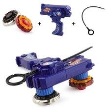 Beyblade Металл Fusion игрушки для продажи Beyblades волчки игрушка набор, Бек игрушки лезвие с двойной пусковых установок, ручной Spinner Металлический Топы