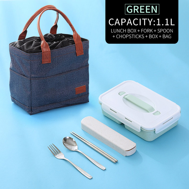Green Bag Tableware Cheap bento boxes silicone collapsible 5c6479e2ed796