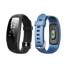Водонепроницаемый 0.96 дюйм(ов) Bluetooth мониторинга сердечного ритма здоровья фитнес SMS напоминание Браслет Смарт Браслет