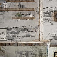 3D Solid Color Vintage Wallpaper Cement Grey Industrial Style Wall Paper Living Room Restaurant Cafe Bar PVC Waterproof Decor