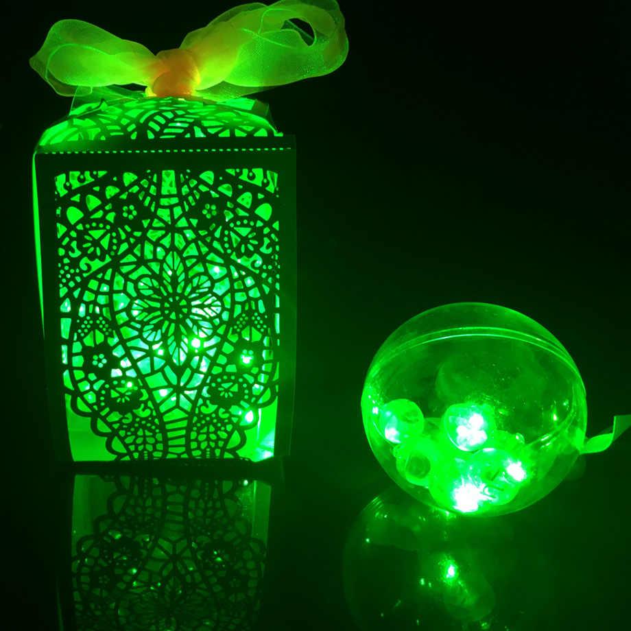 100 cái/lốc Tròn Bóng Đèn LED Bóng Đèn Flash Mini Đèn Lồng Đèn Giáng Sinh cho Tiệc Cưới Trắng, Vàng màu hồng