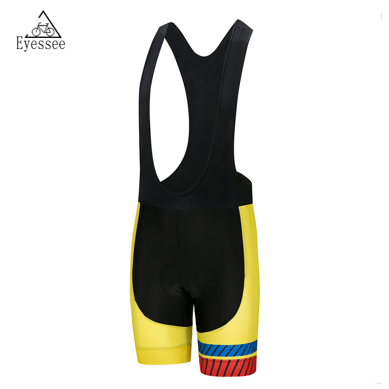 2018 Eyessee Bicycle Bib Short 4 style! Pro Mens Outdoor Mountain Biking Cycling clothing Green 3D Padded Riding Bib Shorts
