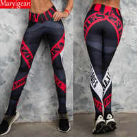 Maryigean Frauen Mode Druck Leggings Gothic Hose Hohe Taille Legging Kein Transparent Fitness leggings Atmungsaktive Workout Leggin
