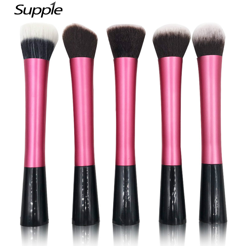 5Pcs Makeup Brushes Tools Professional Cosmetics Blush Face Brushes Beauty Kit Kabuki Makeup Brush Set Women Foundation Make Up professional 10pcs blue silver jessup makeup brushes sets beauty kit foundation kabuki precision brush cosmetics make up tools