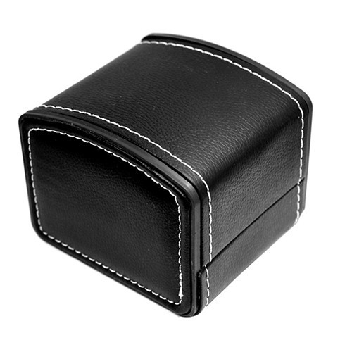 2018 Fashion Watch Box Faux Leather Square Jewelry Watch Case Display Gift Box w