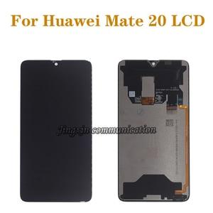 Image 1 - Новый дисплей 6,53 дюйма для Huawei Mate 20, ЖК дисплей с сенсорным цифровым преобразователем, Замена для Huawei mate 20, MT20, детали для ремонта ЖК дисплея