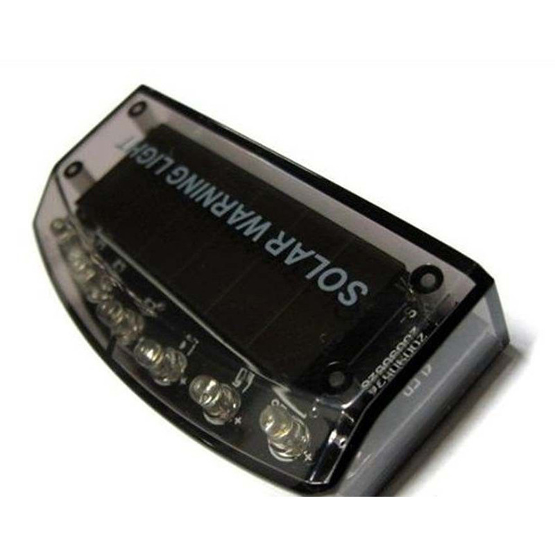 cheapest Car Sensor Security Warning Light 6 LED New Car Solar Charger Auto Car Burglar Alarm Lamp