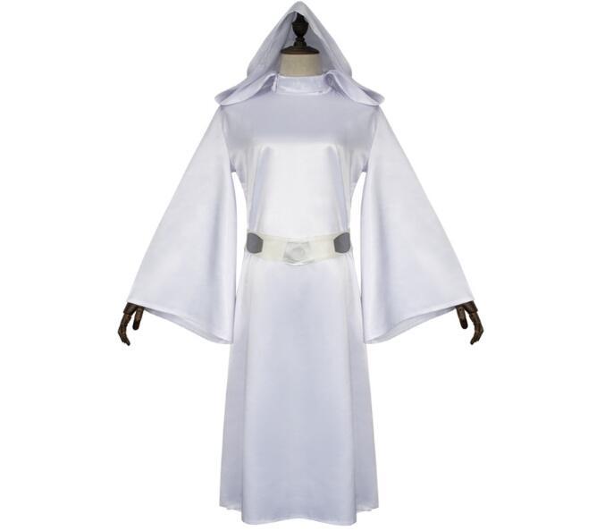 S_XXL Star Wars Costume Princess Leia Cosplay Costume girls clothes female Dress +belt women children Uniform