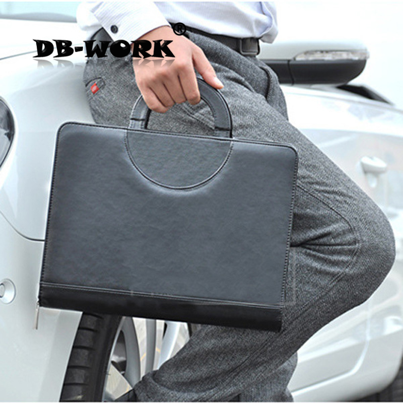 2018 High-grade A4 leather folder Multi-function laptop sales Mobile manager clip With a calculator qshoic a4 multi function business manager clip to high grade leather with calculator folder file pu leather document folder